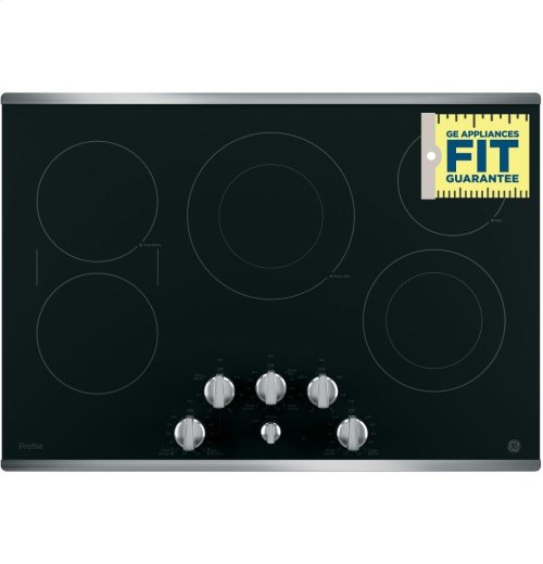 "GE Profile Series 30"" Built-In Knob Control Electric Cooktop"
