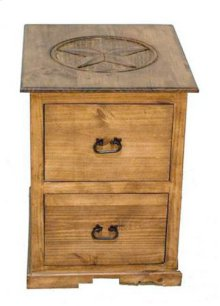 2 Dwr File Cabinet W/ Star