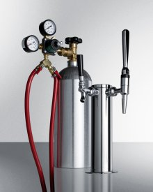 Dual Tap System With Nitrogen Tank To Serve Both Nitro-infused Coffee and Flat Iced Coffee From Most Beer Dispensers