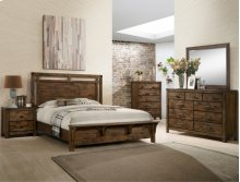 Curtis Panel Bed Gro