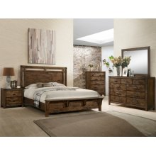 Crown Mark B4810 Curtis Panel Queen Bedroom