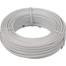 50 foot extension phone line cord in white color