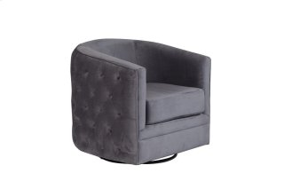 Gabby Swivel Accent Chair Gray