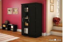 2-Door Storage Cabinet - Pure Black