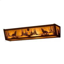 """24"""" Wide Wolf on the Loose Vanity Light"""