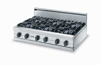 "36"" Sealed Burner Rangetop - VGRT (36"" wide rangetop four burners, 12"" wide char-grill)"