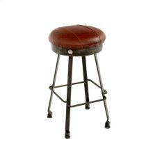 Steel Traditions - Clovis Swivel Barstool With Leather Seat