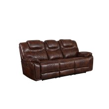 ZY5018A Collection  Power Dual Reclining Sofa Brown Leather Gel