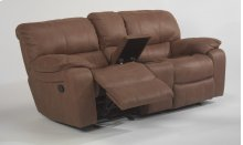 Grandview Fabric Gliding Reclining Loveseat with Console