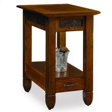 Slatestone Rustic Oak Chairside Table #10906