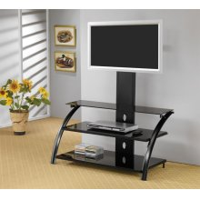 Contemporary Black TV Console