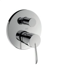 Brushed Nickel Single lever bath mixer for concealed installation