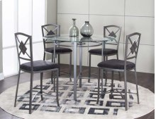 "Milano 45"" Pub Dining Table & 4 Chairs"