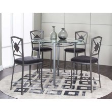 Milano 5 Piece Pub Dining Room Set: Table & 4 Chairs