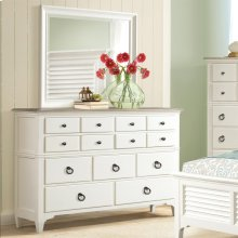 Myra - Nine Drawer Dresser - Natural/paperwhite Finish