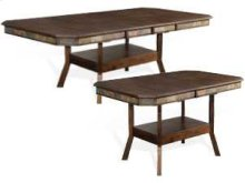 Savannah Dual Height Ext. Dining Table w/ Double Butterfly Leaves