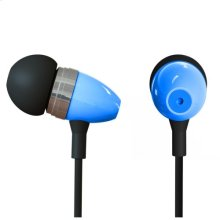 Polaroid Metal Smartphone Stereo Earbuds with Built-In Microphone - PHP729-BL, Blue