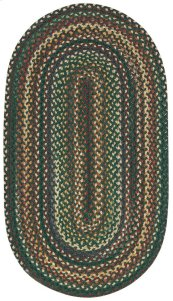 Bear Creek Hunter Green Braided Rugs