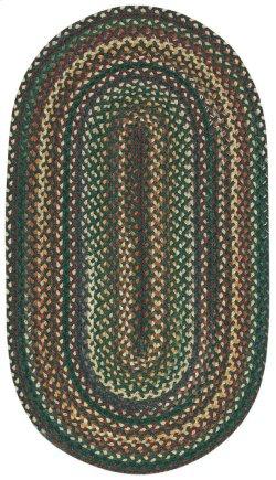 Bear Creek Hunter Green Braided Rugs