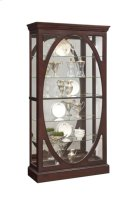 Sable Oval Framed Mirrored Curio Product Image