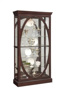 Sable Oval Framed Mirrored Curio