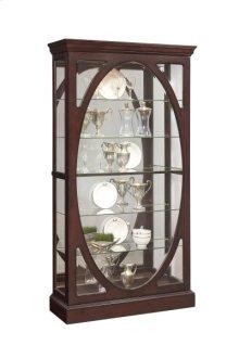 Sable Oval Framed Mirrored Curio