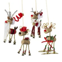 Reindeer Ornament. (8 pc. ppk.)