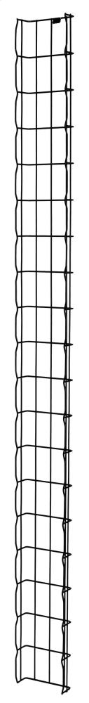 """MM20 Vertical Cable Tray, 2""""W x 12""""D for 7' MM20 4-post racks"""
