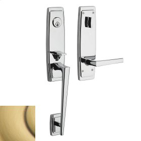 Satin Brass and Brown Palm Springs 3/4 Escutcheon Handleset