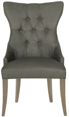 Deco Tufted Back Chair in Smoke