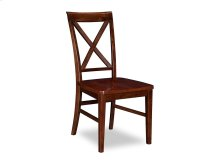 Lexi Dining Chairs Set of 2 with Wood Seat in Walnut