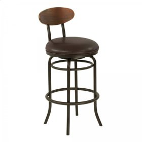 "Armen Living Davis Contemporary 30"" Bar Height Metal Swivel Barstool"