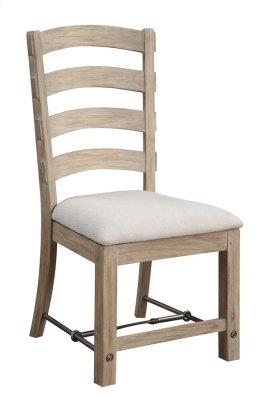 Emerald Home Castle Bay Ladderback Side Chair W/ Uph Seat Pine D952-20