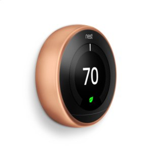 Nest Learning Thermostat - 3rd generation, Copper: 2 pack