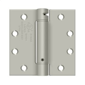 "4 1/2""x 4 1/2"" Spring Hinge, UL Listed - Brushed Nickel"
