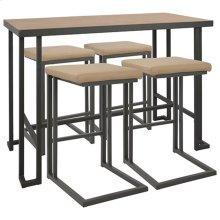 Roman Counter Set - Grey Metal, Bamboo, Camel Pu