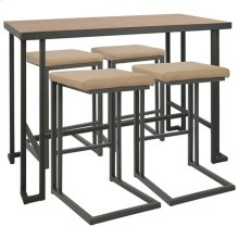 Roman Counter Set - Grey Metal, Bamboo, Camel Pu