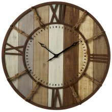 Slat Clock With Rope Knot Numbers.