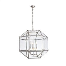 "Gordon Collection Chandelier L24"" D24"" H25"" Polished Nickel Finish"