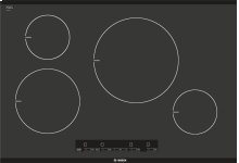 "30"" Induction Cooktop with Touch Control 300 Series - Black NIT3065UC"