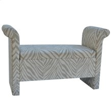 Safari Grey & White Zebra Bench