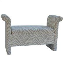 Safari Grey & White Zebra Bench