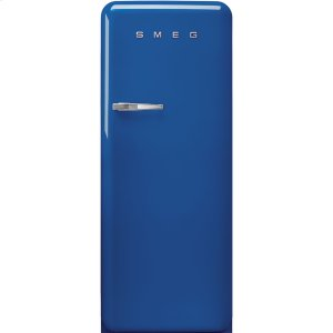 Smeg'50s Style fridge with ice compartment, Blue, Right-hand hinge, 24'' in-width