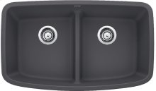 Blanco Valea® Equal Double Bowl With Low-divide - Cinder