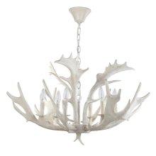 Birch 30-inch Dia Antler Chandelier - White