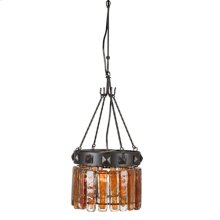 Blown Glass Orange Chandelier