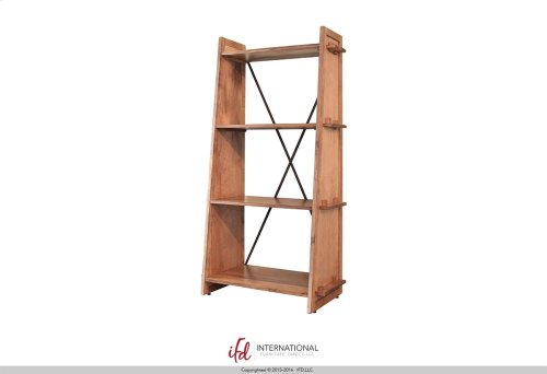 Bookcase w/4 fixed wood storage shelves