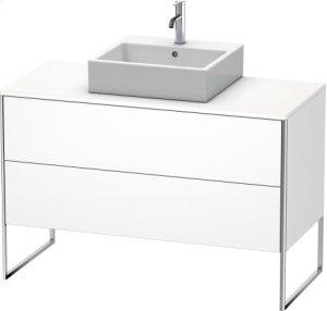 Vanity Unit For Console Floorstanding, White Matt