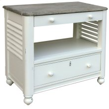 Newport Desk Chest - Wht/rw