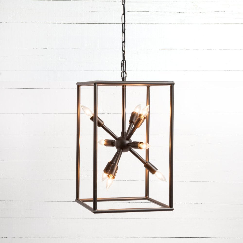 Dark Antique Brass Finish Jaxon Tall Chandelier
